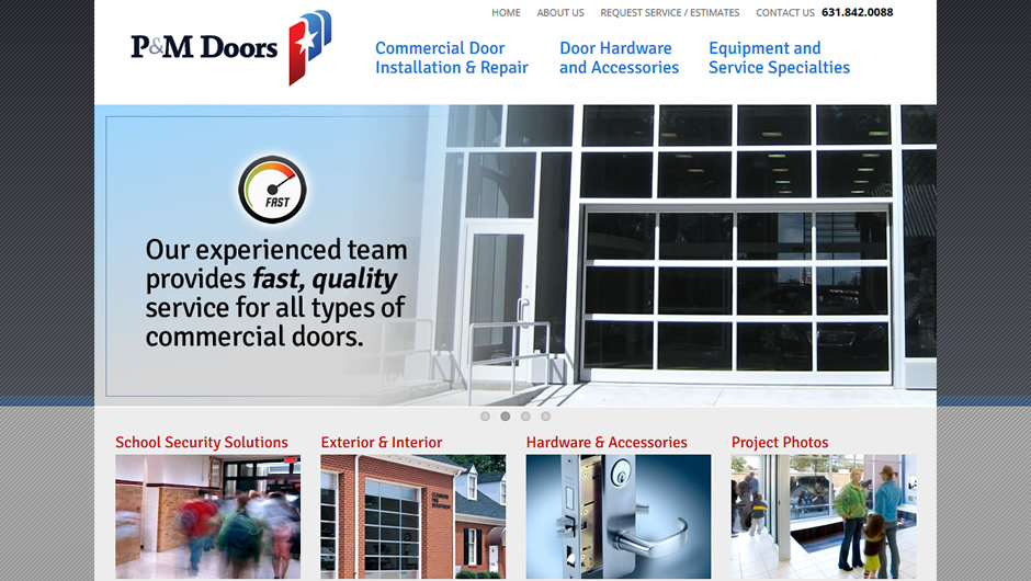 P&M Doors website